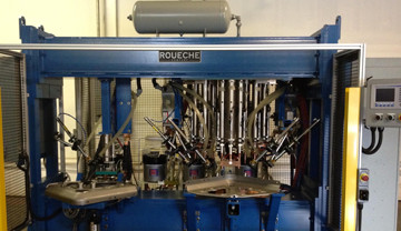 Special 16-Gun, Dual Station Nut Welder with Auto Load/Unload And Nut Feeding Systems