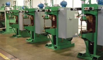 TRC Ram-Type Press Spot Welders: Available with Conventional AC Or MFDC Inverter Controls